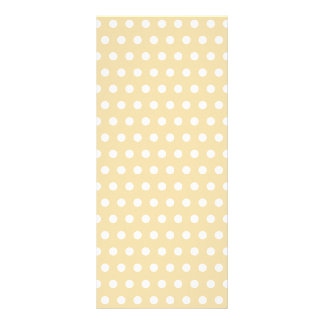 Beige and White Polka Dot Pattern Spotty Personalized Rack Card