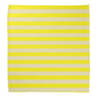 Beige and Yellow Stripes Bandana