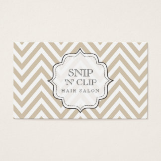 Beige Chevron Filigree Hair Stylist Cards