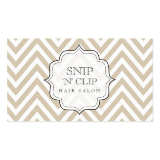 Beige Chevron Filigree Hair Stylist Cards Pack Of Standard Business Cards