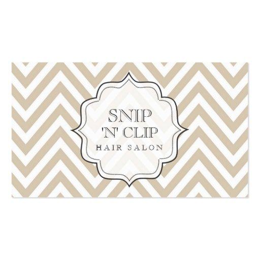 beige Chevron Filigree Stripes Hair Stylist Cards Business Card Templates