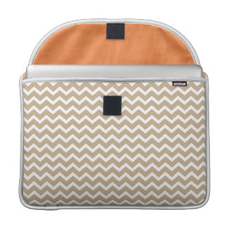 Beige Chevrons Pattern Sleeve For MacBook Pro
