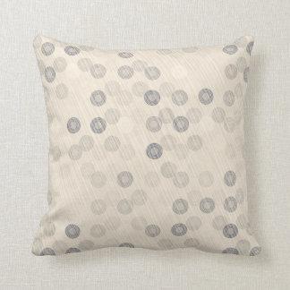 Beige Circle Stripe Pattern Throw Cushion