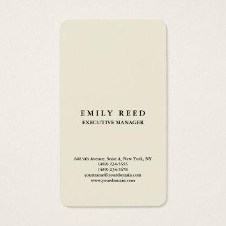 Beige classical professional minimalist business card