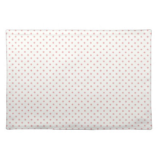 Beige Cream And Pink  Polka Dots Pattern Placemats