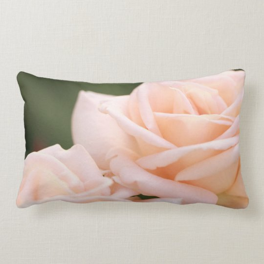 Beige Cream Roses Throw Pillow / Cushion