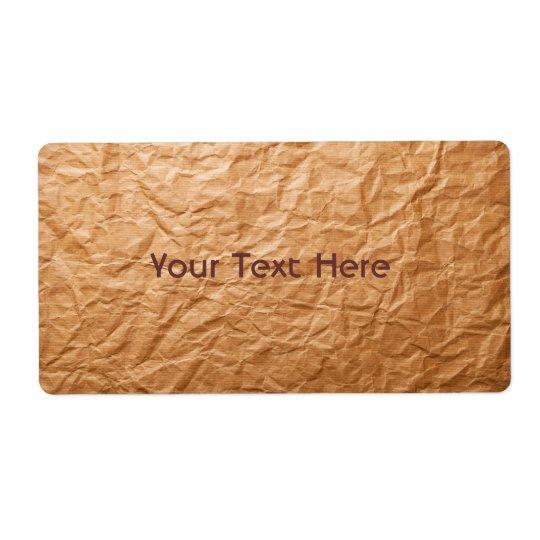 Beige Crumpled Paper