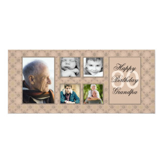 Beige Diamonds Multi-Photo Invitation