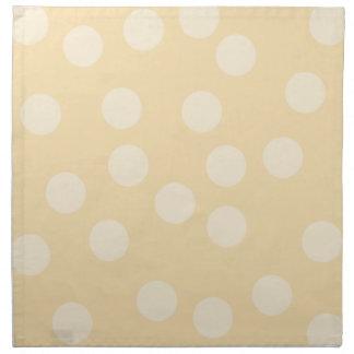 Beige Dot Pattern. Napkin