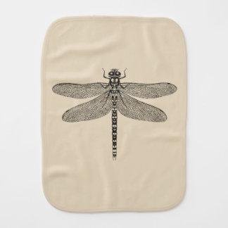 Beige Dragonfly Burp Cloth