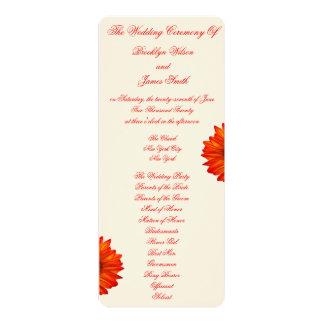 Beige Fall Wedding Ceremony Programs Cards 10 Cm X 24 Cm Invitation Card