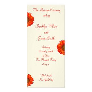 Beige Fall Wedding Ceremony Programs Sunflower Personalised Rack Card