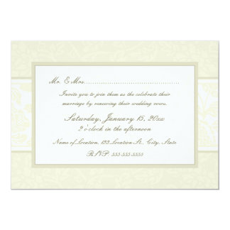 Beige Floral Wedding Vow Renewal Invitations