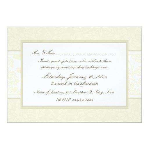 wedding vow renewal invitations uk beige floral wedding vow renewal invitations zazzle wedding vow renewal invitations - Wedding Renewal Invitations