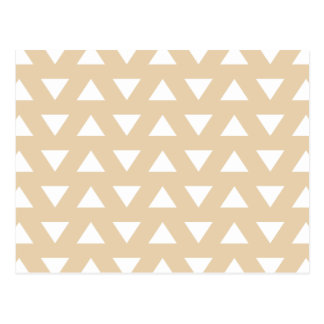 Beige Geometric Pattern with Triangles. Postcard