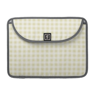 Beige Gingham; Checkered Sleeves For MacBooks