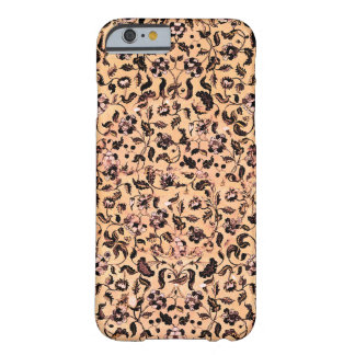Beige Girly Floral Pattern iPhone Case