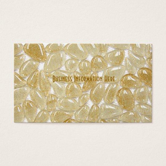 beige glass tiles business card