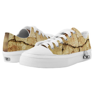 Beige Grunge-Style Low Top Shoes Printed Shoes