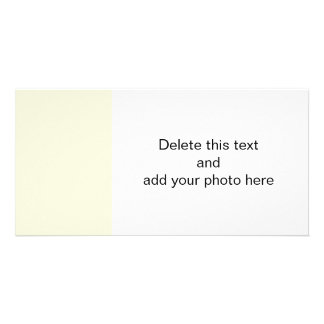 Beige High End Colored Customised Photo Card