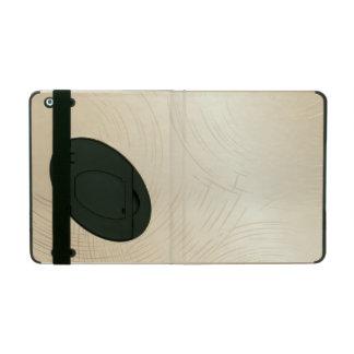 Beige iPad 2/3/4 Case with Kickstand iPad Folio Case