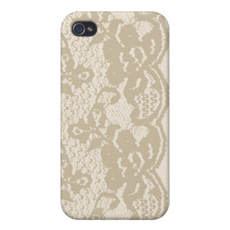 Beige lace cover for iPhone 4