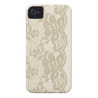Beige lace iPhone 4 Case-Mate cases
