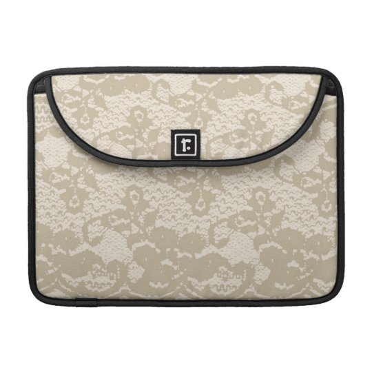 Beige lace sleeve for MacBook pro