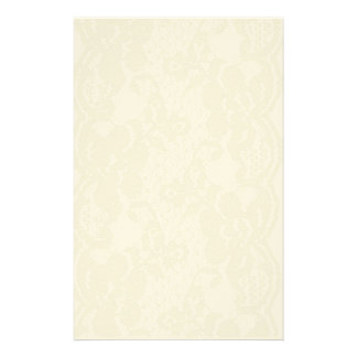Beige lace stationery