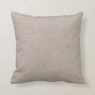Beige Leather Print Texture Pattern Cushion