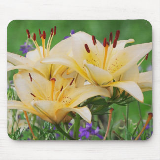 Beige lilly mouse pad