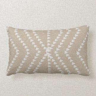 Beige Linen Look White  Arrows Pillow