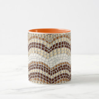 Beige Mosaic 11 oz Combo Mug