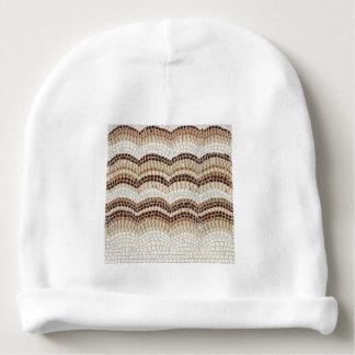 Beige Mosaic Baby Cotton Beanie Baby Beanie