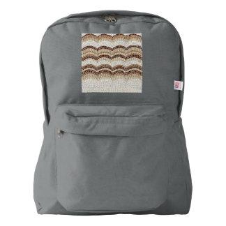 Beige Mosaic Backpack