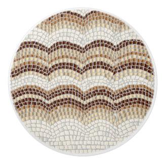 Beige Mosaic Ceramic Knob