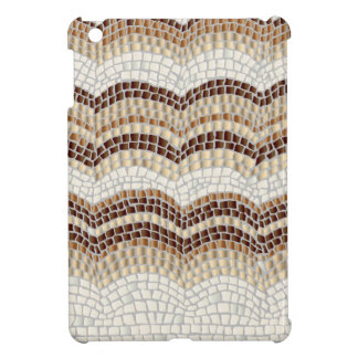 Beige Mosaic Glossy iPad Mini Case