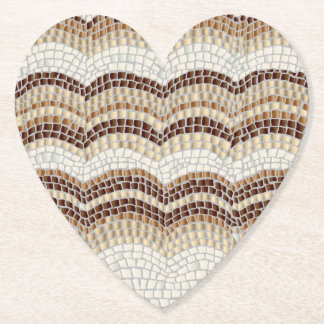Beige Mosaic Heart Coaster