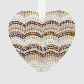 Beige Mosaic Heart Ornament