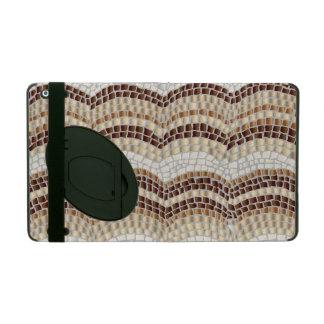 Beige Mosaic iPad 2/3/4 Case with Kickstand iPad Cases