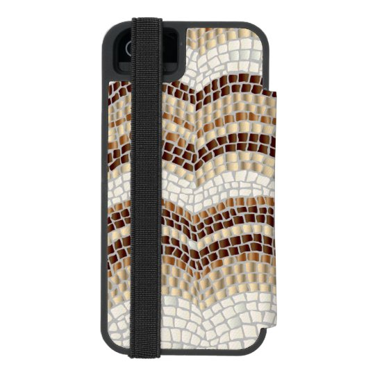 Beige Mosaic iPhone SE/5/5s Wallet Case Incipio Watson™