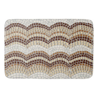 Beige Mosaic Large Bath Mat