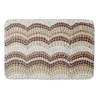 Beige Mosaic Large Bath Mat Bath Mats