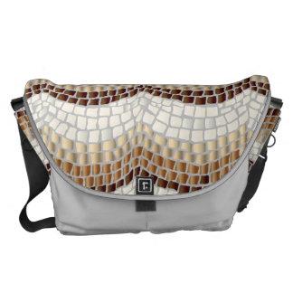 Beige Mosaic Large Messenger Bag