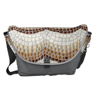 Beige Mosaic Large Messenger Bag