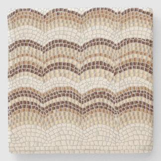 Beige Mosaic Limestone Coaster