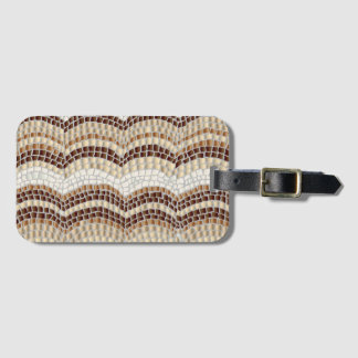 Beige Mosaic Luggage Tag