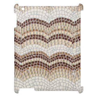 Beige Mosaic Matte iPad Case