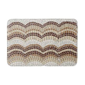 Beige Mosaic Medium Bath Mat