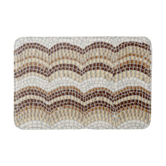 Beige Mosaic Medium Bath Mat Bath Mats